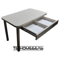 Кухонный обеденный стол светлый бежевый
