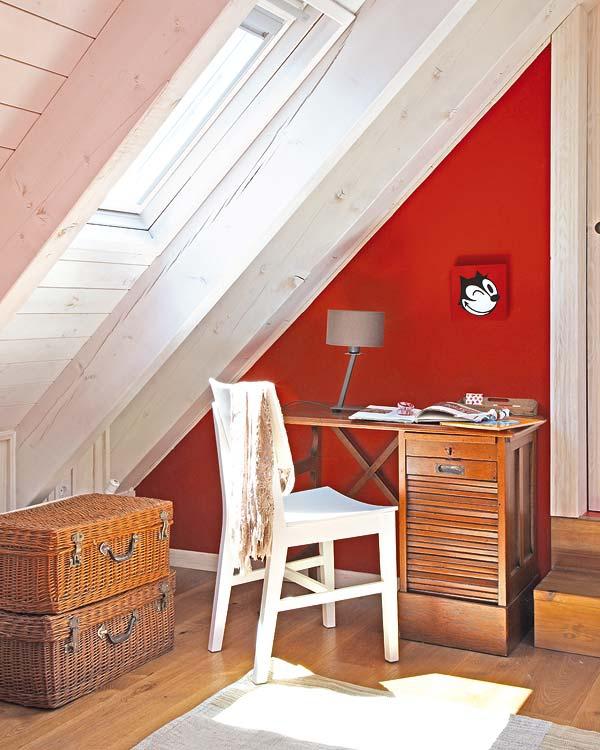 Αξιολάτρευτο κόκκινο παιδικό δωμάτιο4