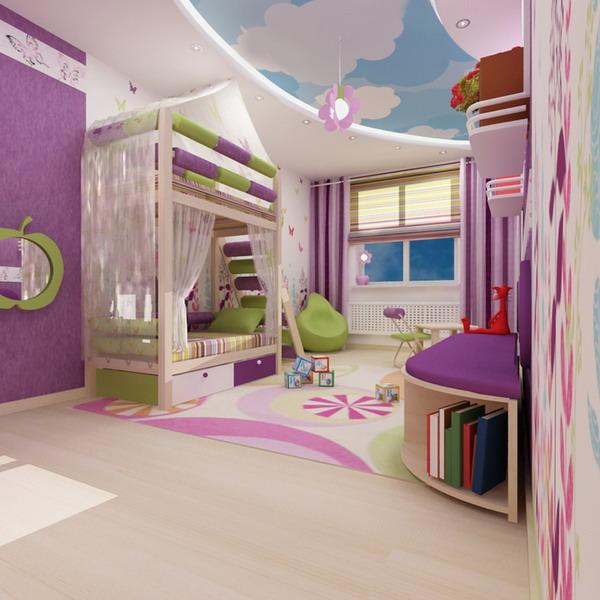 Απίθανα φωτεινά παιδικά δωμάτια1
