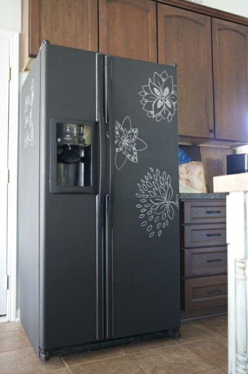 Βαφή Μαυροπίνακα στο ψυγείο σας6