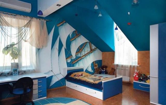 Μπλε χρώμα στην εσωτερική διακόσμηση4
