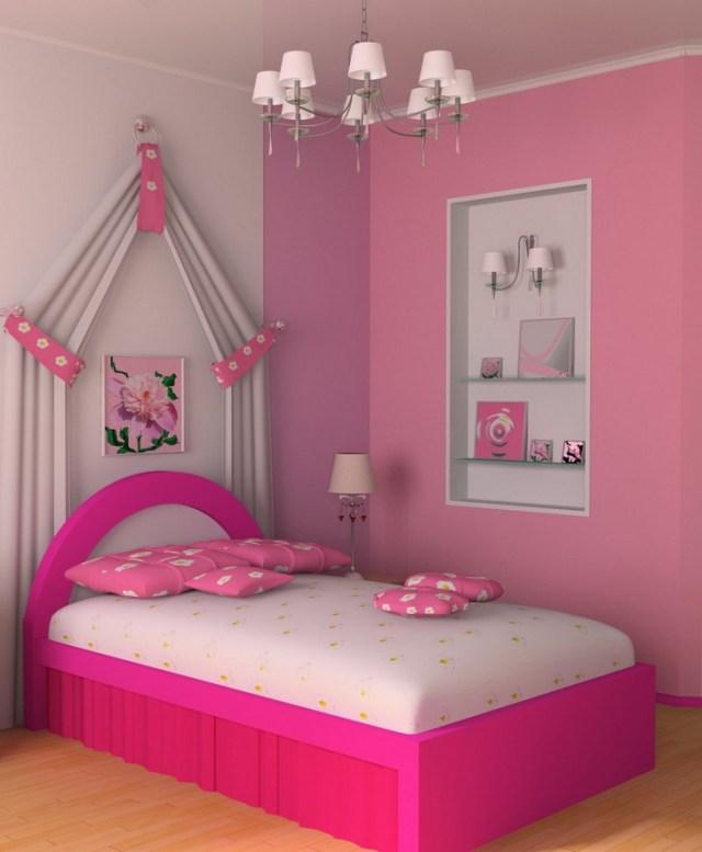 Ροζ Ιδέες για παιδικό Υπνοδωμάτιο1