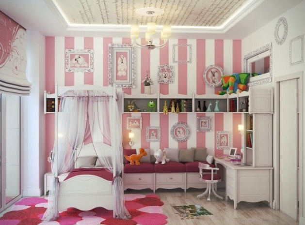 Ροζ Ιδέες για παιδικό Υπνοδωμάτιο2
