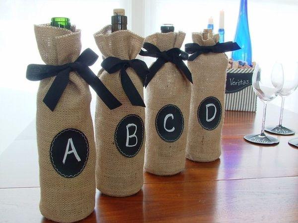 Diy Ιδέες από Μπουκάλια κρασιού11