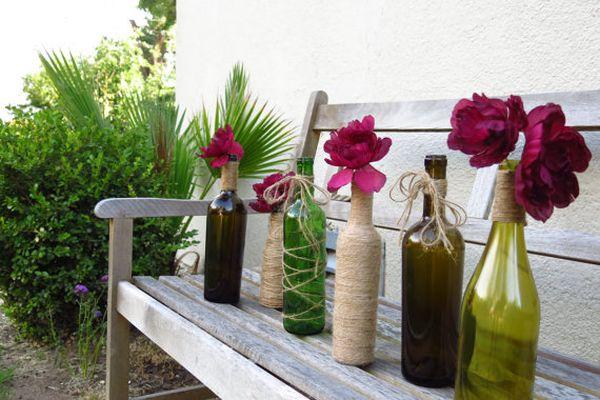 Diy Ιδέες από Μπουκάλια κρασιού2
