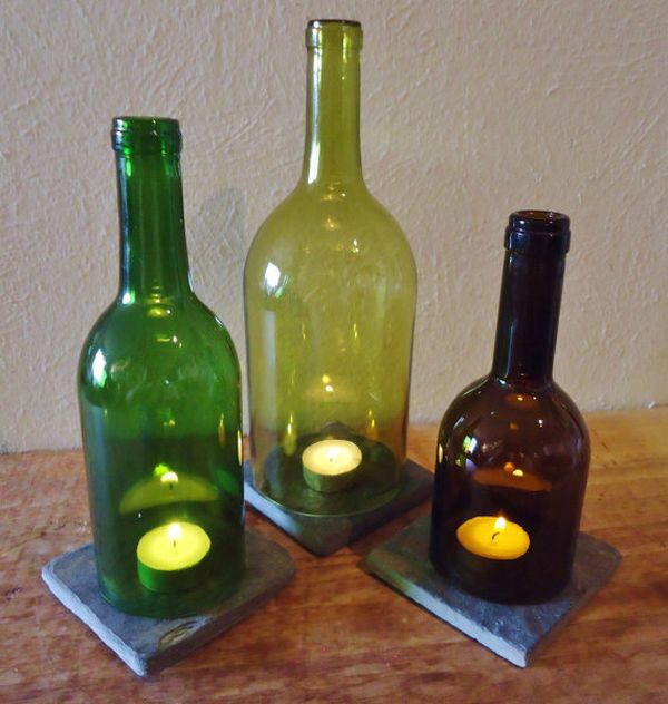 Diy Ιδέες από Μπουκάλια κρασιού3