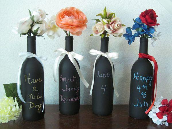 Diy Ιδέες από Μπουκάλια κρασιού7
