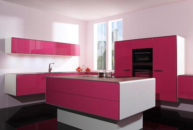 Ιδέες με Μοβ και ροζ χρώματα κουζίνας12