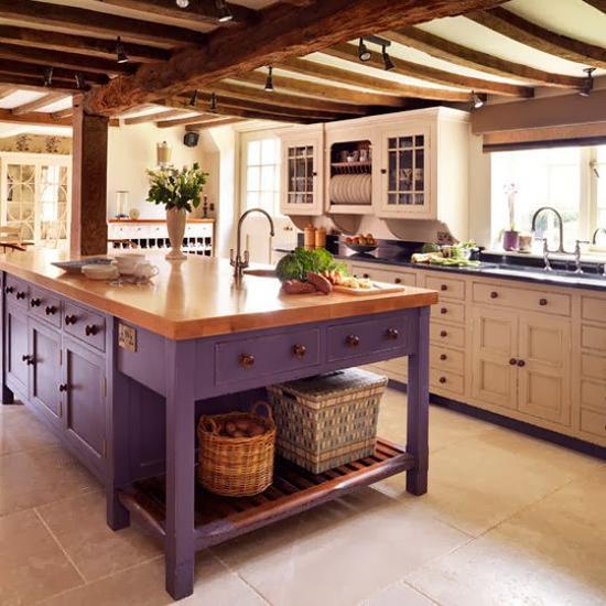 Ιδέες με Μοβ και ροζ χρώματα κουζίνας4