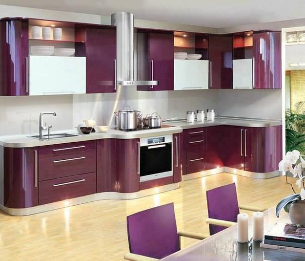 Ιδέες με Μοβ και ροζ χρώματα κουζίνας5