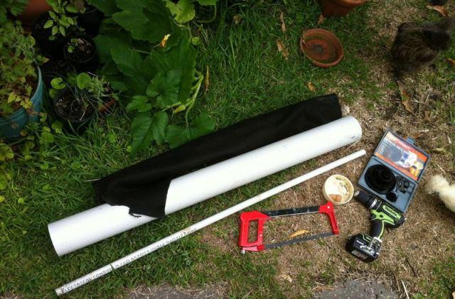 DIY Κάθετη Γλάστρα από PVC Σωλήνες2