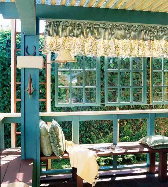 Ιδέες με ανακύκλωση παλιών ξύλινων πορτών και παραθύρων1