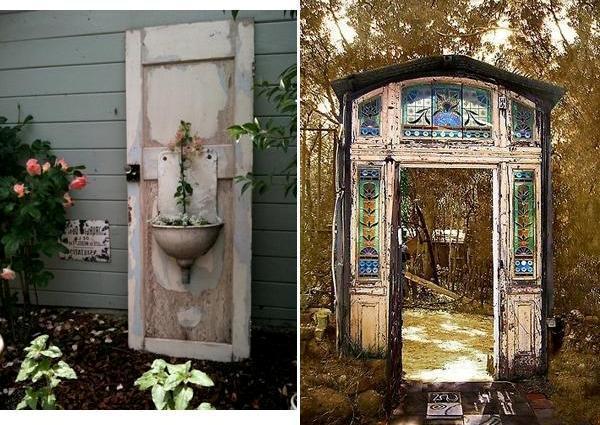 Ιδέες με ανακύκλωση παλιών ξύλινων πορτών και παραθύρων5