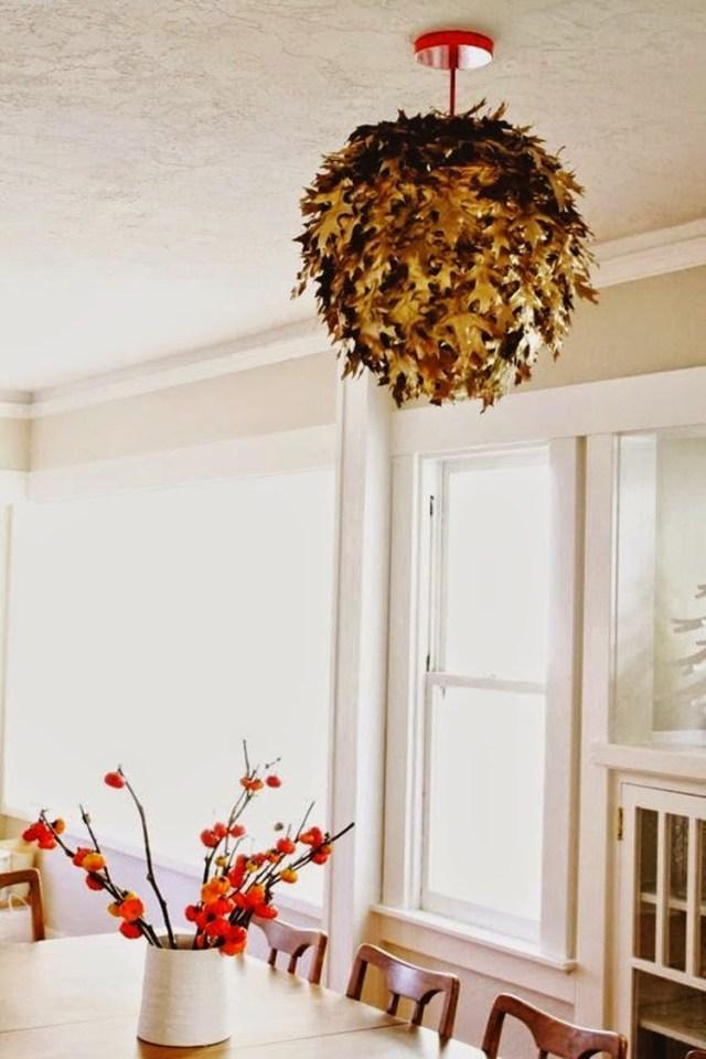 Φθινοπωρινές DIY διακοσμητικές ιδέες με φύλλα3