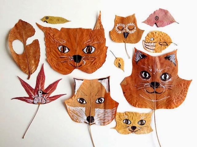Φθινοπωρινές DIY διακοσμητικές ιδέες με φύλλα4