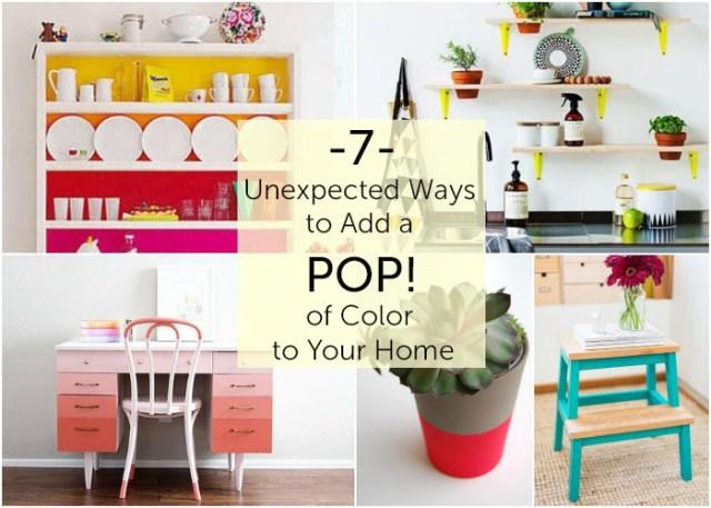 προσθέσετε πινελιές χρώματος στο σπίτι σας