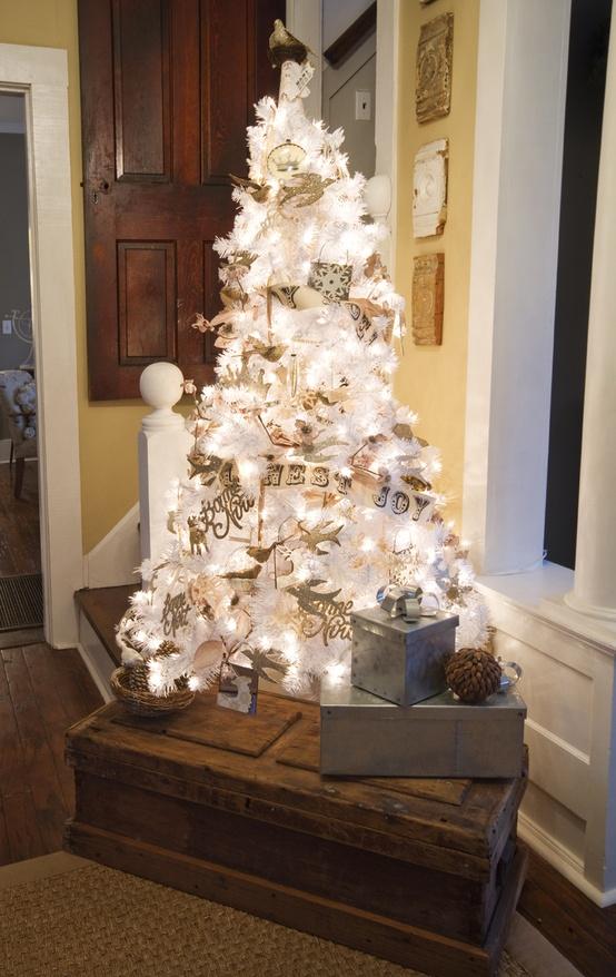 Ιδέες για Vintage λευκά  Χριστούγεννα36