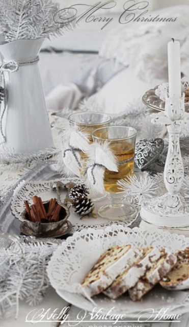 Ιδέες για Vintage λευκά  Χριστούγεννα38