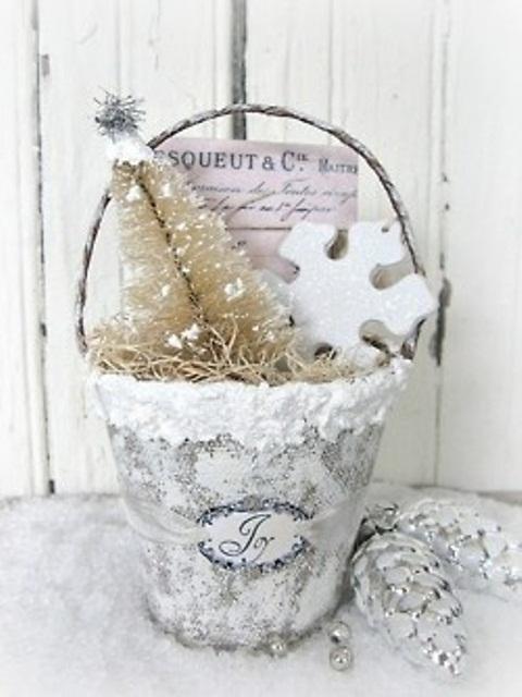 Ιδέες για Vintage λευκά  Χριστούγεννα9