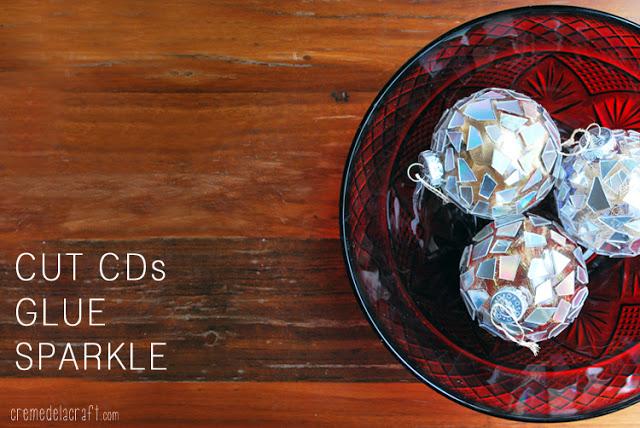 Χριστουγεννιάτικα στολίδια από σπασμένα ή παλιά CDs3
