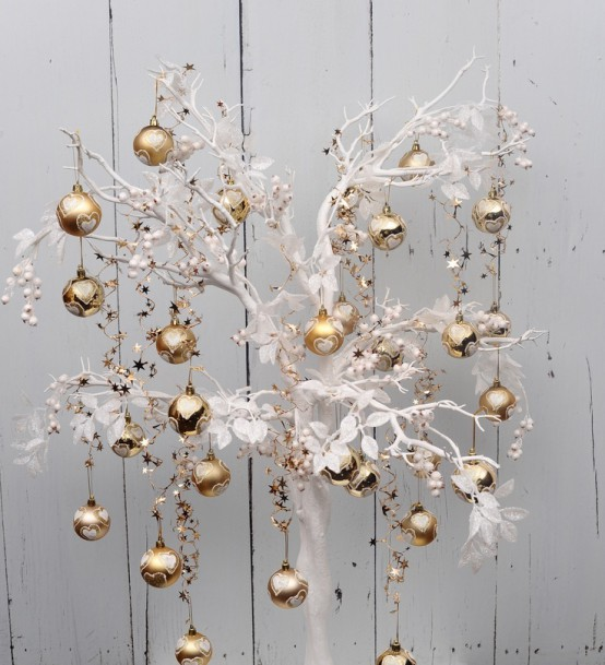 χρυσάφι Και Λευκές Χριστουγεννιάτικες Ιδέες14