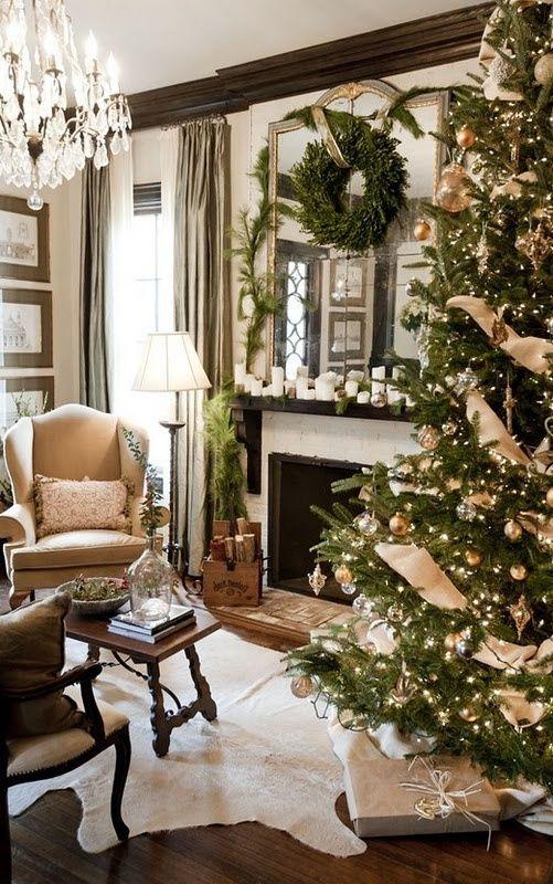 χρυσάφι Και Λευκές Χριστουγεννιάτικες Ιδέες18