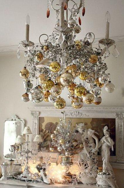 χρυσάφι Και Λευκές Χριστουγεννιάτικες Ιδέες20
