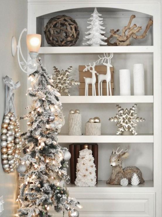 χρυσάφι Και Λευκές Χριστουγεννιάτικες Ιδέες7