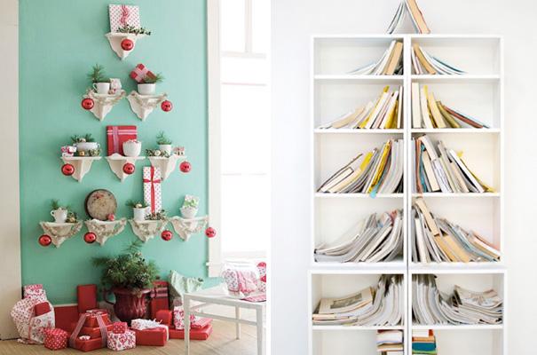 ιδέες με Χριστουγεννιάτικα Δέντρα στον τοίχο13