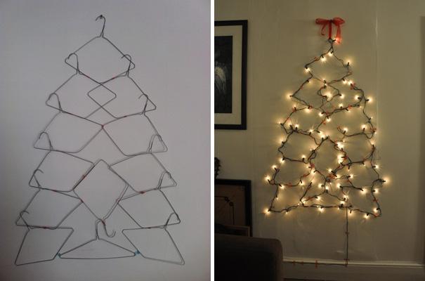 ιδέες με Χριστουγεννιάτικα Δέντρα στον τοίχο19
