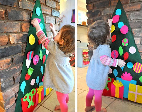 ιδέες με Χριστουγεννιάτικα Δέντρα στον τοίχο7