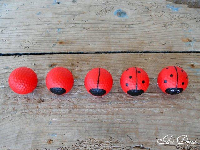πασχαλίτσες για τον κήπο σας από μπαλάκια του γκόλφ6