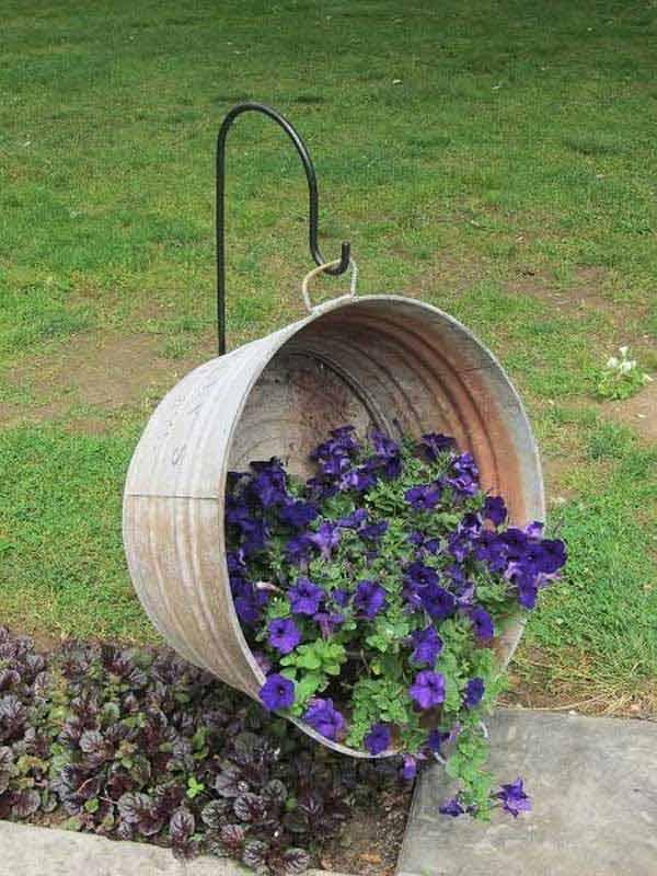 DIY Γλάστρες Κήπου1