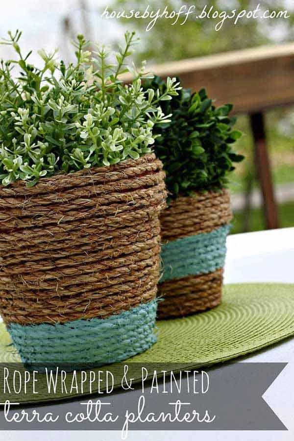 DIY Γλάστρες Κήπου2