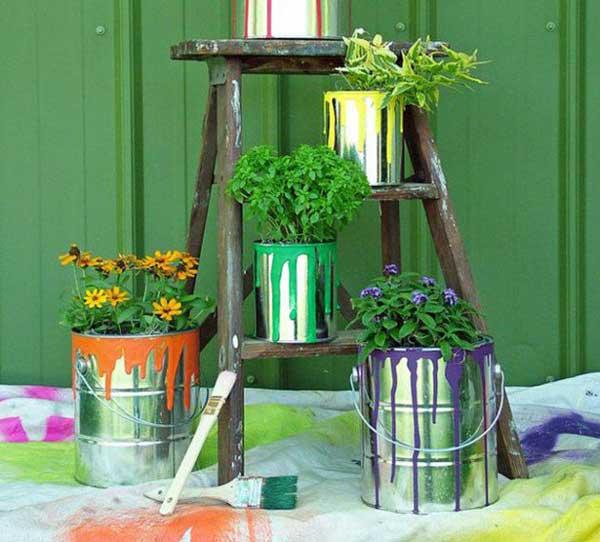 DIY Γλάστρες Κήπου8