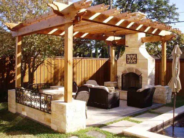 Ιδέες σχεδιασμού ξύλινης πέργκολας10
