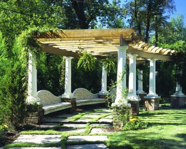 Ιδέες σχεδιασμού ξύλινης πέργκολας13