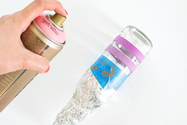 DIY Πολύχρωμα βάζα5