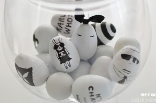 DIY ιδέες Πασχαλινής Διακόσμησης σε μαύρο και λευκό7