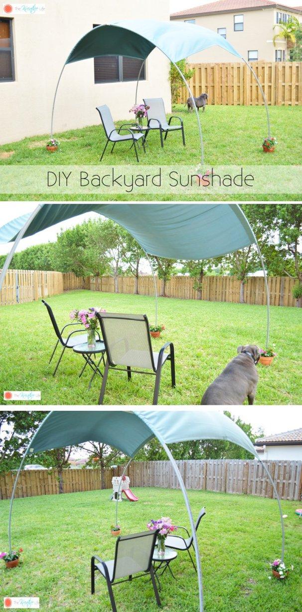 Απίθανο DIY σκίαστρο για την αυλή και τον κήπο σας10