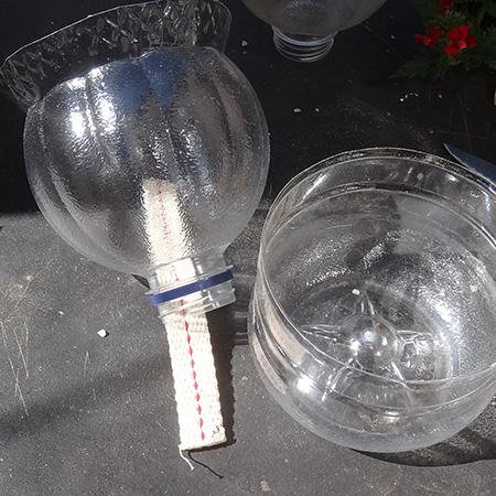 πλαστικά μπουκάλια σε γλάστρες αυτόματου ποτίσματος7