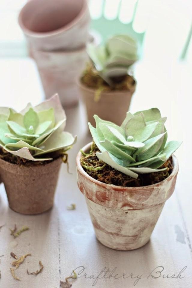 DIY διακόσμηση με ψεύτικα φυτά2