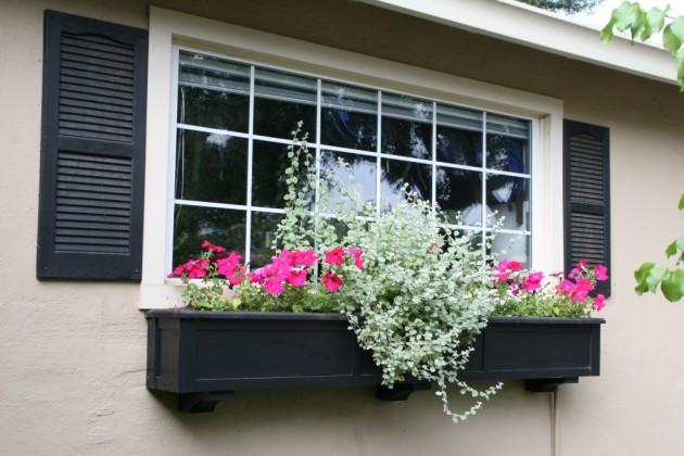 Ιδέες με ζαρτινιέρες λουλουδιών για τα παράθυρα σας6