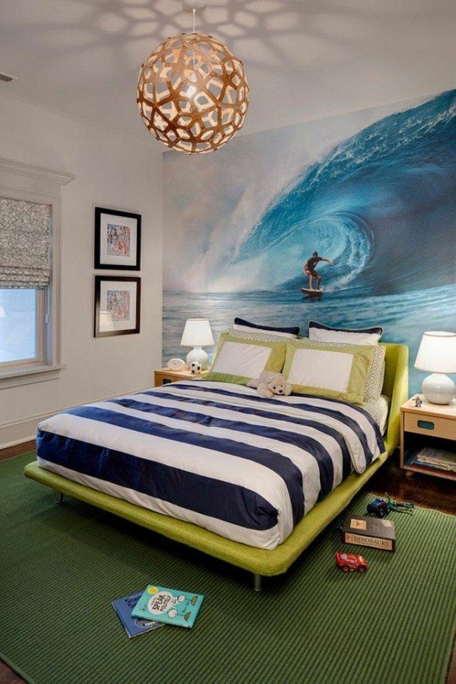 Παιδικά υπνοδωμάτια με ενδιαφέρουσες ιδέες διακόσμησης τοίχου2