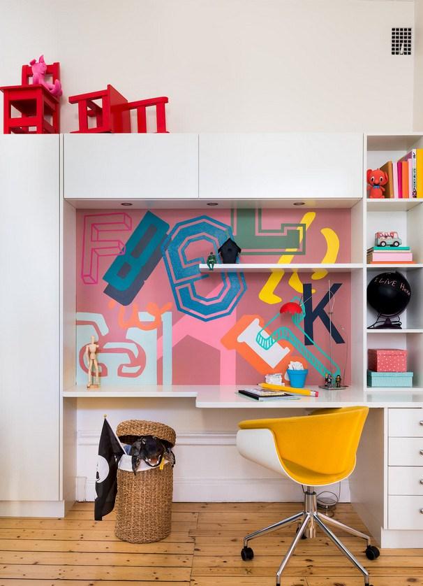 Έντονα χρώματα σε ένα καταπληκτικό σκανδιναβικό διαμέρισμα21