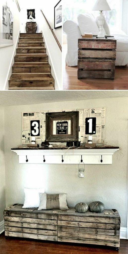 Ιδέες με ξύλινες παλέτες100