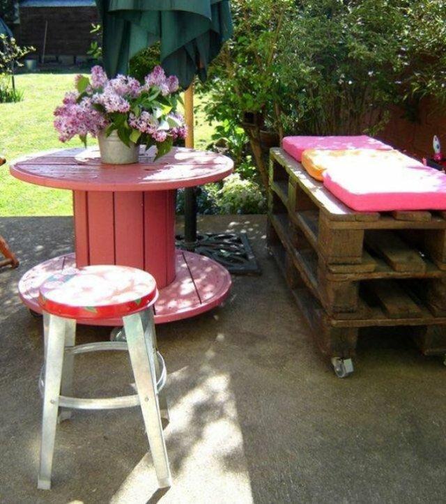 Ιδέες με ξύλινες παλέτες104