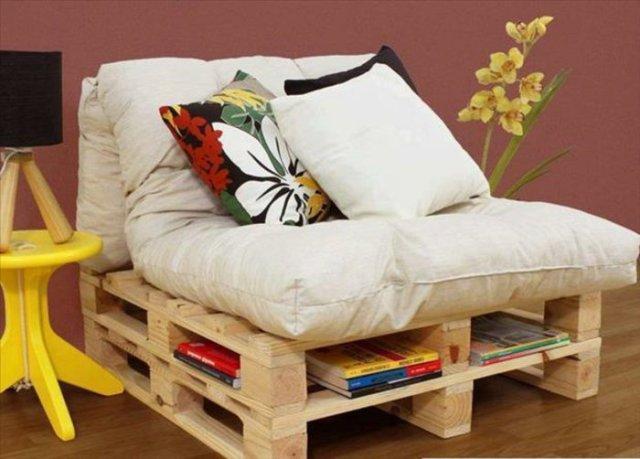 Ιδέες με ξύλινες παλέτες24