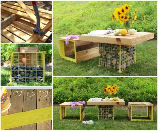 Ιδέες με ξύλινες παλέτες44
