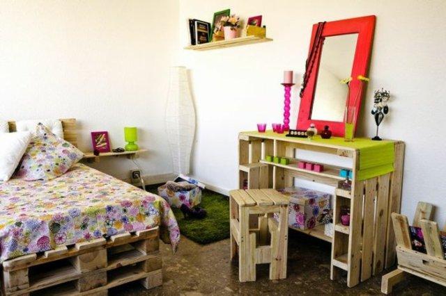 Ιδέες με ξύλινες παλέτες6